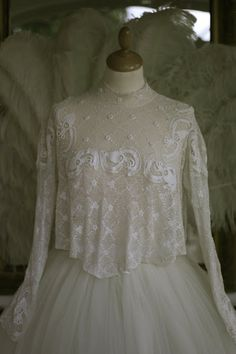 Rosemary Cathcart Antique Lace and Vintage Fashion: Antique Irish Crochet Lace Bodices For Sale
