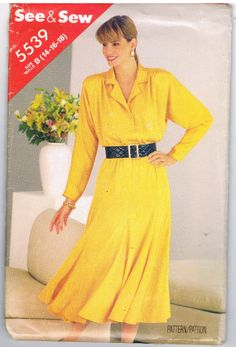 See & Sew Butterick 5539 Classic Dress Pattern by CraftiqueRedux at Etsy, $6.99