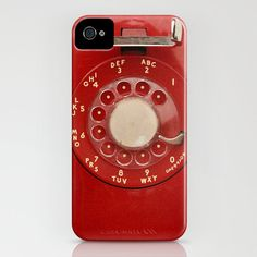 Vintage Red Rotary Phone IPhone 4/4S, Iphone 5, Samsung Galaxy 4S, IPhone 3GS/3G Vintage Phone Case