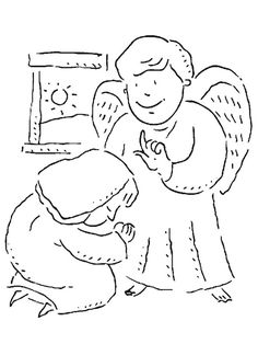 Sunday school coloring page Paul teaching Timothyr Timothy is