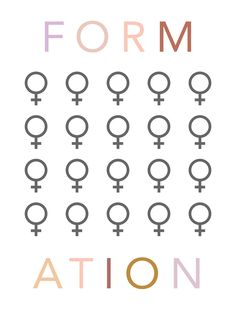 Formation Poster Typography Letters, Lettering, Iconic Women, All Poster, Girl Gang, Girl Boss, Color Patterns, Words, Prints