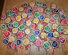 Cute design idea- with a 4 instead 18 Birthday Party Decorations, 18th Birthday Party, Birthday Party Games, Birthday Cookies, Special Birthday, Birthday Gifts, Birthday Ideas, 20s Party, Party Time