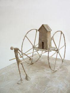 Na Dúvida... Experimenta! : ANTOINE JOSSÉ Textile Sculpture, Pottery, Clay, Ceramics, 3d, Coffee, Decor, Wire Tree Sculpture, Paper Puppets