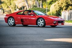 One of only 218 produced Delivered to French dealer Charles Pozzi Final mid-engined Ferrari commissioned before Enzo's death Ferrari 348, Ferrari For Sale, Ferrari Mondial, Car Storage, Automotive Design, Motor Car, Cars Motorcycles, Luxury Cars, Cool Cars