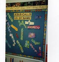 Jesus calls us by name - would be great for a door decoration