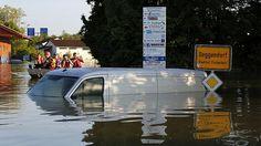 Hoogwater Duitsland high water Germany Hoch wasser Deutschland