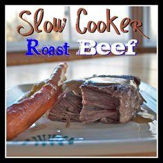 Crock Pot Roast Beef Dinner Recipe | Purple Kitty