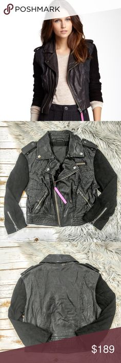 Superdry Olivia Aero Black Leather Biker Jacket Superdry Olivia Aero Black Leather Biker Jacket Size M in excellent used condition. Features Superdry logo badge on the chest, perforated leather for beathable comfort. Suede sleevesand zippered cuffs. Assymetrical zipper gives this a 'moto' look. Hot pink zipper pull that features the brand name. Please feel free to ask any questions, I ship the same day as long as orders are placed before 11 AM Central time. Happy Poshing! Superdry Jackets…