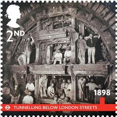 London Underground 150th stamps