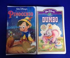 PINOCCHIO and DUMBO VHS Factory Sealed Tapes New Walt Disney's Masterpiece