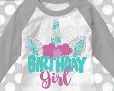 Unicorn svg, Unicorn birthday, Birthday girl svg, iron on Transfer, eps, Unicorn shirt, Unicorn horn svg, Sparkle svg, birthDAY svg, party