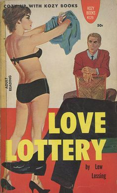 Lew Lessing - Love Lottery  Kozy Books K129  Published 1961  Cover Artist: unknown