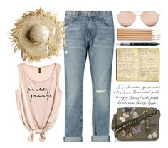 """""""~ n o . s h o e s ~ 2975"""" by boxthoughts ❤ liked on Polyvore featuring Current/Elliott, Moleskine, Disney, Valentino and Linda Farrow"""