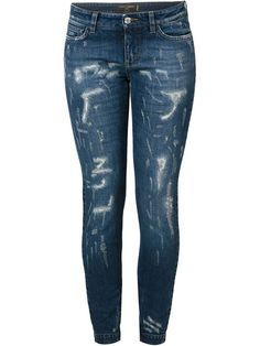 Dolce & Gabbana Calça jeans cenoura slim fit