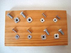 mousehouse: Fine motor skills activity- nuts, bolts and screws