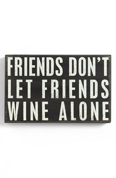 Primitives by Kathy 'Wine Alone' Box Sign available at #Nordstrom