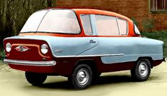 Nami Belka 1955 - This is a Russian car produced from 1955 to 1957. Unfortunately, it did not sell well, which is because there was no demand for cars like this, and it was very slow and impractical. This car is not amphibious, even though it looks amphibious.