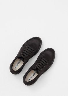 Acne Studios Adriana Satin Sneaker (Black)
