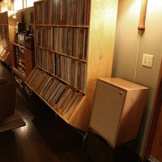A library of vinyl LPs...
