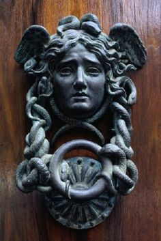 Paris Door Knocker by Antique Door Knockers, Door Knockers Unique, Door Knobs And Knockers, Cool Doors, Unique Doors, Statues, Door Accessories, Door Furniture, Sculpture