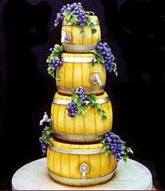 Wine barrel cake from Mike's Amazing Cakes Gorgeous Cakes, Pretty Cakes, Amazing Cakes, Crazy Cakes, Fancy Cakes, Unique Cakes, Creative Cakes, Barrel Cake, Novelty Cakes