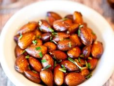 Toasted almonds with rosemary and orange zest