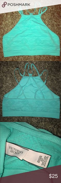 Vs bralette NWOT Bright blue vs bralette UFT or sell but only pink for pink. ‼️ no flaws worn knee size small super adorable PINK Victoria's Secret Intimates & Sleepwear Bras