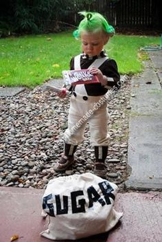 Homemade Classic Oompa Loompa Costume: We knew for nearly an entire year that we wanted to dress our daughter up as an Oompa Loompa, as that's what we often referred to her (given her toddler