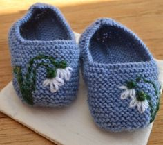 Blue Snowdrop Baby Shoes