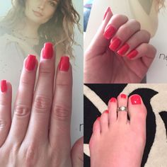 Gorgeous set of red gel nails and toes. On these we used Lobster Roll Shellac on hands (client likes to change her nail colour every couple of weeks) and Red Hot Mamma Defianze on toes (client likes hard gel on her toes as she runs and finds this more hard wearing)#glamicures #gelmanicure #gelnails #rednails #shellac #defianze