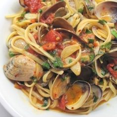Linguine with Clam Sauce by Kath.  YUMMO!!!  I will make this for sure!!!