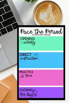 Pacing a class period is a critical component of both classroom management and curriculum design.  When our pacing is predictable and organized, we are able to get through our content AND keep students focused.  Every lesson plan should have a target and here are the ways to get there.