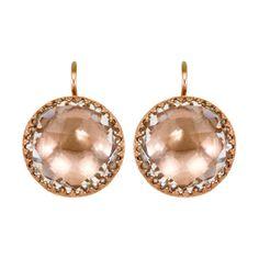 Larkspur & Hawk Rose Gold Plated White Topaz Earrings