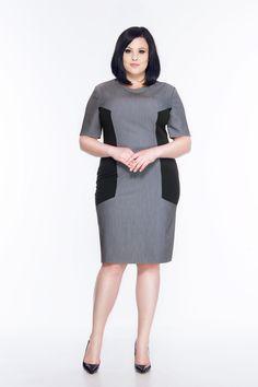 Sukienka z rękawami SL2167 SIZE PLUS www.fajne-sukienki.pl High Neck Dress, Dresses, Fashion, Turtleneck Dress, Vestidos, Moda, Fashion Styles, Dress, Fashion Illustrations