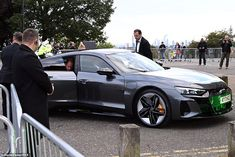 Kate and William,both 39, arrived at Alexandra Palace last night in a car fromAudi'se-tron range, which useelectric battery powered motors to drive without carbon dioxide emissions.