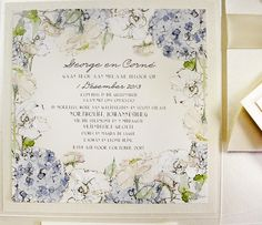 A Peek into the Studio – Hydrangeas, Peonies, Roses and Lily of the Valley Wedding Invitations