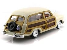 Motor Max 1/24 Scale 1949 Ford Woody Wagon Beige Cream Diecast Car Model 73260 www.DiecastAutoWorld.com 2312 W. Magnolia Blvd., Burbank, CA 91506 818-355-5744 AUTOart Bburago Movie Cars First Gear GMP ACME Greenlight Collectibles Highway 61 Die-Cast Jada Toys Kyosho M2 Machines Maisto Mattel Hot Wheels Minichamps Motor City Classics Motor Max Motorcycles New Ray Norev Norscot Planes Helicopters Police and Fire Semi Trucks Shelby Collectibles Sun Star Welly