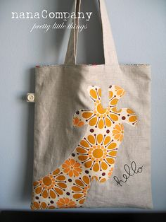 hello giraffe tote | Flickr - Photo Sharing!