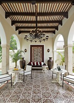 Spanish style #CourtYard #Landscape #Outdoor ༺༺  ❤ ℭƘ ༻༻