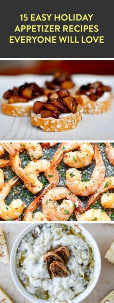 15 easy holiday appetizers #christmas #holiday #entertainment #winter #fingerfoods #party #food