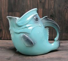 Big Mouth Vintage California pottery fish pitcher