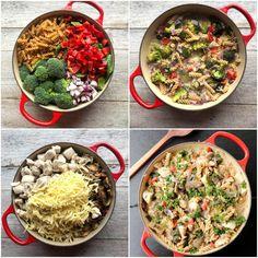 Alt-i-ett krema kyllinggryte - LINDASTUHAUG Ethnic Recipes, Food, Red Peppers, Essen, Meals, Yemek, Eten