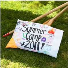 Get colorfully creative and turn your camp memories into a pillowcase keepsake.