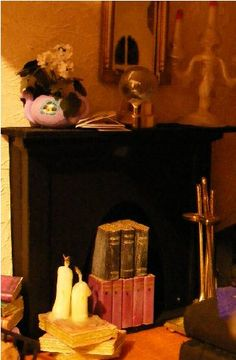 how to: fireplace from a dollhouse door