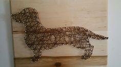 Stringy Wienie!! #stringart #silhouette #stringsilhouette #script #stringscript #monogram #stringmonogram #stringpicture #stringportrait #customstringart #dachshund #wienerdog #stringdachshund #doxin #stringdog