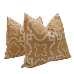 """Pair of Decorative Designer Pillow Covers-Suburban Abstract In Camel-18 inch :     Price: $65.00    .        **Need A Fresh New Look....Add New Pillows** This Beautiful contemporary fabric is Suburban Abstract In Camel By Duralee. This pillow is backed with a solid white twill cotton fabric and has an envelope insert. These pillow covers measure 18""""x18"""". Can be available in vario...Check Price >> http://gethotprice.com/appin/?t=B008AZO2PG"""