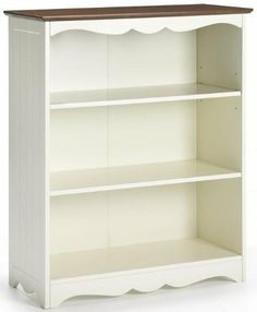 """Southport Open 3 shelf Bookcase, 40""""HX32""""WX14"""", IVORY AND OAK by Home Decorators Collection. $189.00. 39.5""""H x 32""""W x 14""""D.. Find a place for all your favorite books and accessories with this three-shelf bookcase from the Southport Collection. You'll love how the cottage-inspired design makes your office feel like a more inviting place to work. With multiple shelves and an open front for easy access, this bookcase will be a welcome addition to your other Southp..."""