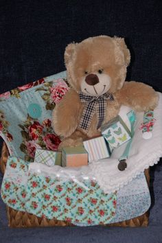 New Baby  Basket baby Shower Gift basket Personalized by SouthernA