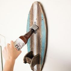 Rustic Surfboard Bottle Opener