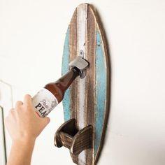 Rustic Surfboard Bottle Opener